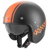 Kask motocyklowy ROCC Classic Pro TT czarny mat-pomarańczowy M
