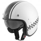 Kask motocyklowy ROCC Classic Pro TT biały-czarny XL