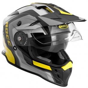 Kask motocyklowy ROCC 781 czarno-żółty