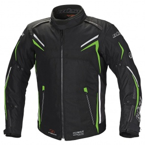 Kurtka motocyklowa BUSE Mugello czarno-neonowo zielona M