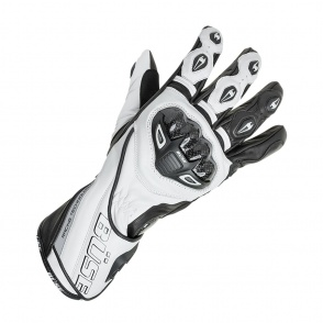 Rękawice motocyklowe BUSE Donington Pro czarno-białe