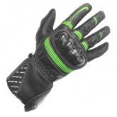 Rękawice motocyklowe BUSE Misano czarno-zielone