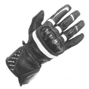 Rękawice motocyklowe BUSE Misano czarno-białe