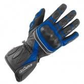 Rękawice motocyklowe BUSE Pit Lane czarno-niebieskie