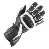 Rękawice motocyklowe BUSE Pit Lane biało-czarne