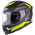 Kask motocyklowy ROCC 331 czarny-żółty neonowy L