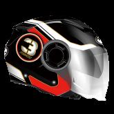 Kask motocyklowy ROCC 281 czarno-czerwony