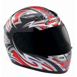 Kask motocyklowy ROCC Tarantulas czerwony