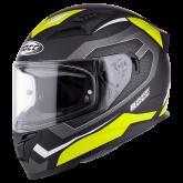 Kask motocyklowy ROCC 331 czarny-żółty neonowy S