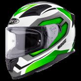 Kask motocyklowy ROCC 331 biały-zielony XS