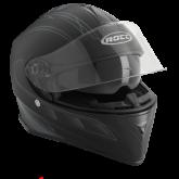 Kask motocyklowy ROCC 431 czarno-srebrny