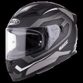 Kask motocyklowy ROCC 331 czarny-srebrny L