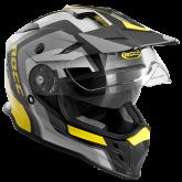Kask motocyklowy ROCC 781 czarno-żółty S