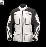 Kurtka motocyklowa damska BUSE Open Road Evo biało-czarna