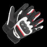 Rękawice motocyklowe BUSE Safe Ride czarno-biało-czerwone