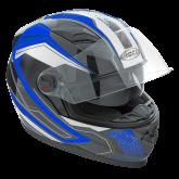 Kask motocyklowy ROCC 321 czarno-niebieski
