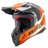 Kask motocyklowy ROCC 751 czarny-pomarańczowy XS