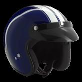 Kask motocyklowy ROCC Classic Dekor niebiesko-biały
