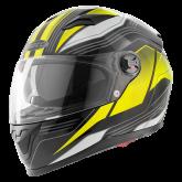 Kask motocyklowy ROCC 322 czarny-żółty neonowy S