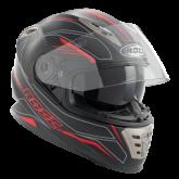 Kask motocyklowy ROCC 486 czarno-czerwony mat