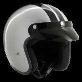 Kask motocyklowy ROCC Classic Dekor srebrno-czarny