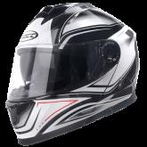Kask motocyklowy ROCC 661 biały-czarny S