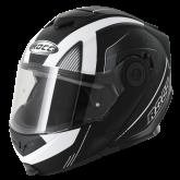 Kask motocyklowy ROCC 882 czarny mat/biały  L