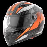 Kask motocyklowy ROCC 322 czarny-pomarańczowy XS