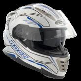 Kask motocyklowy ROCC 486 biało-niebieski