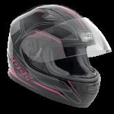 Kask motocyklowy dziecięcy ROCC 382 Jr. czarno-różowy