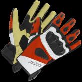 Rękawice motocyklowe BUSE Fast Track czarno-biało-czerwone