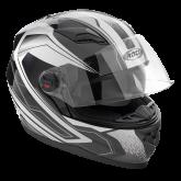 Kask motocyklowy ROCC 321 czarno-szary