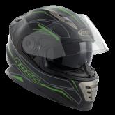 Kask motocyklowy ROCC 486 czarno-zielony mat