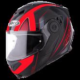 Kask motocyklowy ROCC 881 czarno-czerwony M