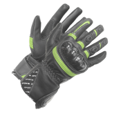 Rękawice motocyklowe damskie BUSE Misano czarno-zielone