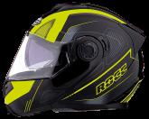 Kask motocyklowy ROCC 881 czarno-żółty neonowy XL