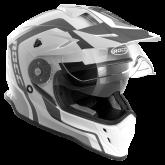 Kask motocyklowy ROCC 781 czarno-biało-szary XS