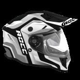 Kask motocyklowy ROCC 781 czarno-biało-szary