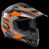 Kask motocyklowy dziecięcy ROCC 712 Jr. czarno-pomarańczowy