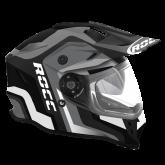 Kask motocyklowy ROCC 781 czarno-szary