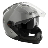 Kask motocyklowy ROCC 160 tytanowy metaliczny