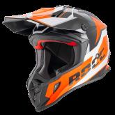 Kask motocyklowy ROCC 751 czarny-pomarańczowy M