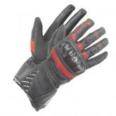 Rękawice motocyklowe damskie BUSE Misano czarno-czerwone
