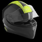 Kask motocyklowy ROCC 432 czarno-żółty [ROCC432]