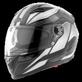 Kask motocyklowy ROCC 322 czarny-szary M