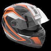 Kask motocyklowy ROCC 321 czarno-pomarańczowy