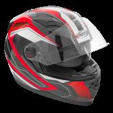 Kask motocyklowy ROCC 321 czarno-czerwony