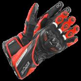 Rękawice motocyklowe BUSE Donington Pro czarno-czerwone