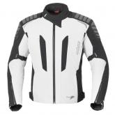 Kurtka motocyklowa BUSE Marino STX biało-czarna