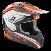 Kask motocyklowy ROCC 741 czarno-pomarańczowy